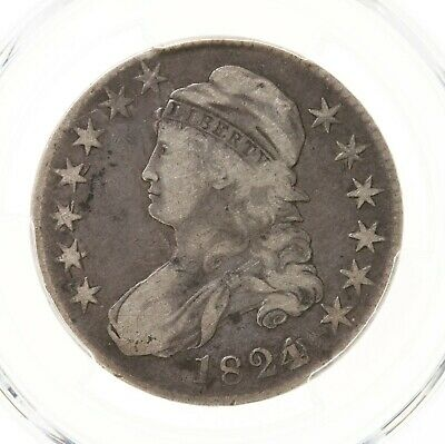 1824 Capped Bust 50C PCGS Certified F12 O-103 Over Various Dates