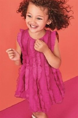 NEXT Girls Pink Dress Summer Ruffle Dress 2-3 Years  BNWT