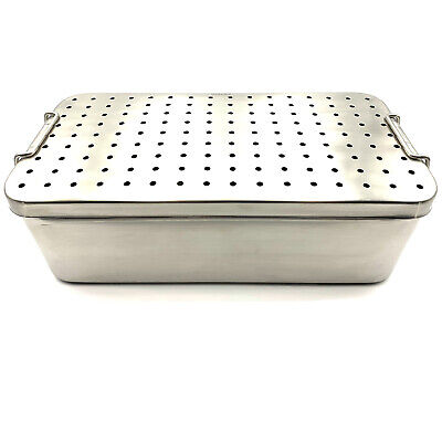 Stainless Steel Sterilization Tray 14'' x 7'' x 4 1/2''