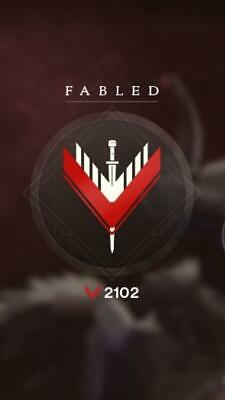 Destiny 2 Fabled Glory Rank GUARANTEED RECOVERY (2100) [PC]