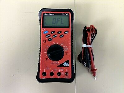MAC TOOLS EM710 Digital MultiMeter AC / DC CAT III 600V Backlit Display W/  Leads