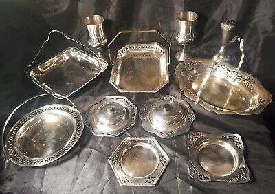 Job lot of Antique English Silver Plated Items. 2.5kg silver plate.