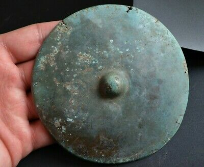 Ancient Celtic Large Bronze Shield Boss. Big Shield Top decoration, c150-50 Bc.