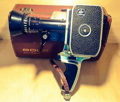 Paillard Bolex Zoom Reflex 8Mm Movie Camera, Som Berthiot 1:1.9 F=8 A 40 Lens