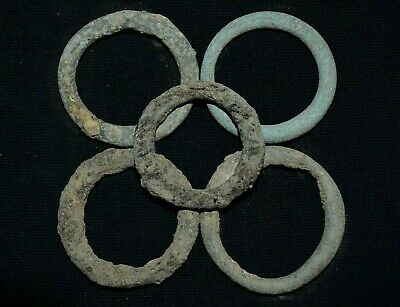 Ancient Celtic Collection of 5 Proto coins. Group of 5 Ring Money, c 150-50 Bc.