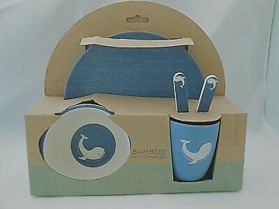 Bamboo Baby Dinner 5 Piece Set with Cup, Bowl, Plate & Utensils