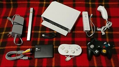 Modded Nintendo Wii Console Bundle With HARD DRIVE + 4 CONTROLLERS! ULTIMATE PKG