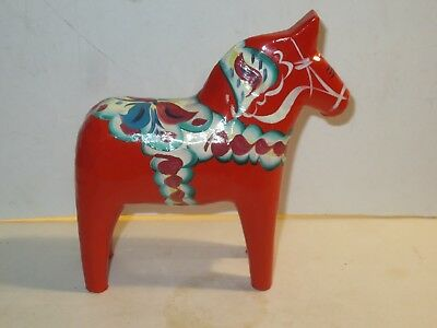 Nils Olsson Large Dala Sweden Horse Figurine With Original Labels And Price Tag