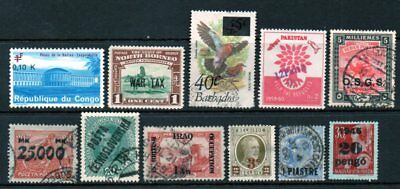 A Very Nice Mixture of 11-Worldwide-Used Overprint-Issues