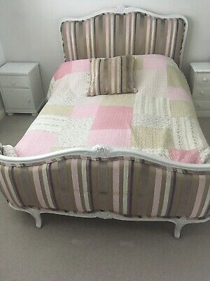 Antique French Bed Frame Upholstered.