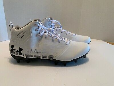 29ea17b06c11 Under Armour Banshee Ripshot MC Men's Sz. 13 Lacrosse Cleat 1297352-101  White