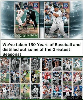 Topps BUNT MLB  150 Years of Baseball - Greatest Seasons 48 Digital Card Set