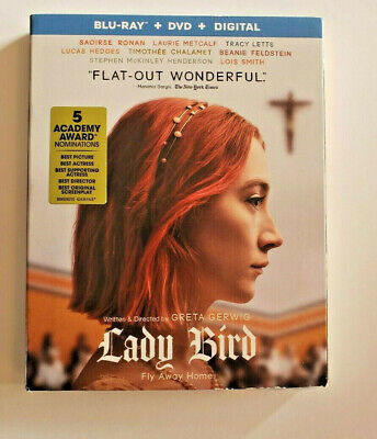 LADY BIRD (Blu-ray + DVD + Digital 2018) New With Slipcover Sealed  Free Ship