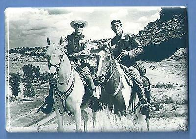 The Lone Ranger *2X3 Fridge Magnet* Clayton Moore And Silver Horse Tv Show 3180