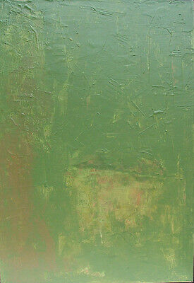 Graham Pavone B.1945 Canadese Verde Go 1973 Abstract Espressionista Pittura