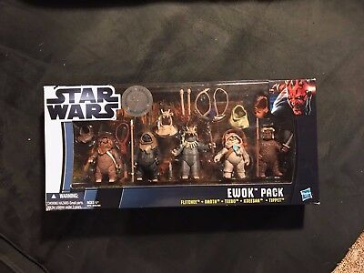 Star Wars Ewok Pack | 5 Action Figures | Toys R Us Exclusive | New Sealed