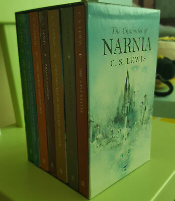 The Chronicles of Narnia Box Set 7 paperback books the original novels C.S Lewis