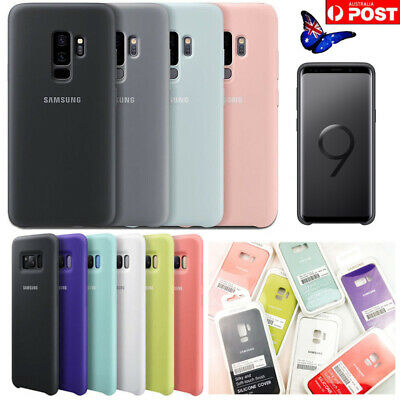 Original Genuine Official Silicone Case Cover For Samsung Galaxy S8 S9 S9 Plus