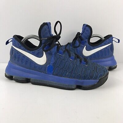 brand new d06bd f485f Nike 855908-410 KD Kevin Durant 9 Blue Black Basketball Shoes Youth Boys  6.5Y