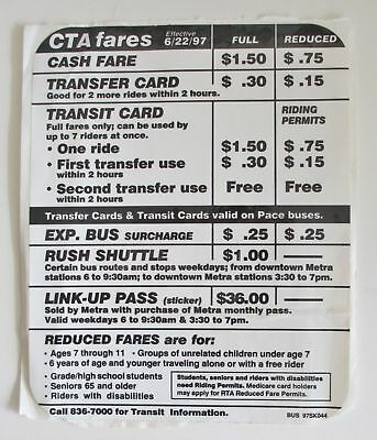 VINTAGE CHICAGO CTA Bus Fares Sticker - $17 00 | PicClick