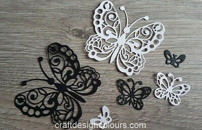 Die Cuts - Butterflies Black And White