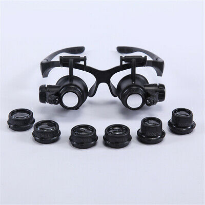 Dentist LED Surgical Loupes Medical Binocular Glasses Dental Magnifier w/ 6*Lens