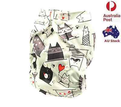 New Modern Cloth Nappy Adjustable Reusable FREE Insert MCN Nappies Nappy (D244)