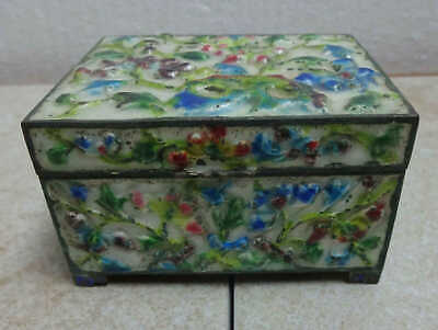 Circa 1900 Chinese Heavy Enameled Metal Box