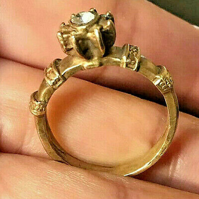 RARE Ancient Medieval Bronze Ring Artifact Museum Quality Very Stunning