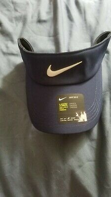 fcb0a554e05393 New 2018 Nike Core Golf Visor Midnight Navy/anthracite/white One Size Fits  All