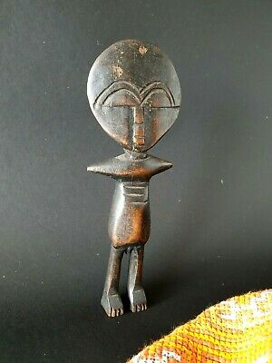 Old Akuaba West African Ghana Carved Wooden Fertility Doll Patina …beautiful col