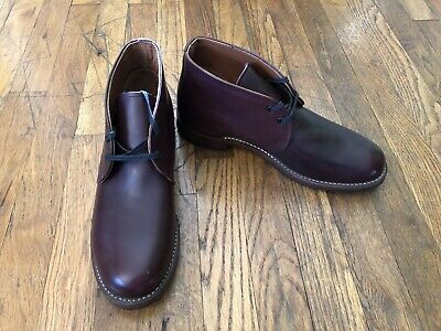 c51e867193b2c RED WING HERITAGE Mens Beckman Chukka Boot, Size 9, Black Cherry Leather