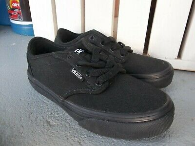0bd07faf1b NEW BOYS VANS Atwood Deluxe Palm Leaf Canvas Black Trainers UK 10