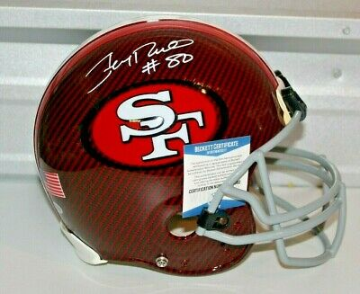 6076c6a0f Jerry Rice Autograph Signed San Fransico 49ers Hydro Full Size Helmet BAS 1