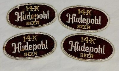 Vintage Hudepohl 14K Beer Advertising Jacket Patches - Set Of Four