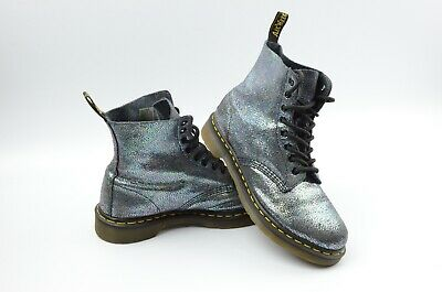 fffe20e4607 DR. MARTENS PASCAL Multicolor Metallic Leather 8-Eye Lace Up Boots Womens  Size 9