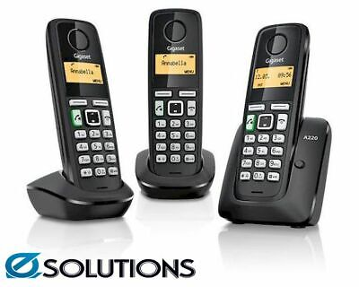 Siemens Gigaset A220A TRIO Cordless Analog Phone with 3 Handsets and Answering M