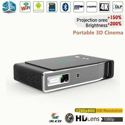 Akaso 8500 Lumens DLP 3D 4K Projector Android Wifi HD 1080P Home Cinema HDMI USB