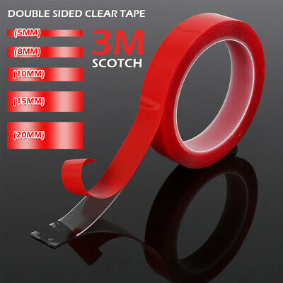 NEW 3M VHB High strength Double-sided Clear Transparent Acrylic Adhesive Tape AU