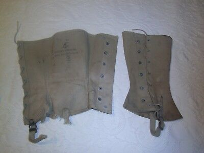 WW2 US Army cavalry boot covers leggings dated 3/12/1943 Gregory and Read Co.