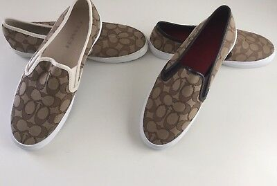 58ac3000ef NEW Coach Chrissy Outline Signature Slip-On Athletic Fashion Sneaker Shoes  $175