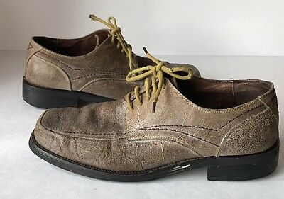 0fb504283289 Bed Stü (Bed Stu) Seahawk Men s Size 9 Brown Leather Lace Up Oxfords