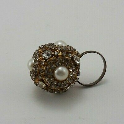 546adbaa56109 NUGGET RING WITH Flat Cluster Of White, Bright Stones...very Nice ...