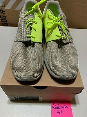 9a78c2d0c087e Nike Roshe Run Split Khaki and Volt Sz 15 DS Basketball Sportswear Training