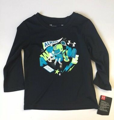 Under Armour UA Toddler Baby Boy 24M 24 Month 2T Long Sleeve Shirt Top NWT