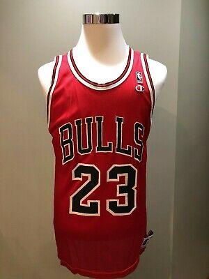 save off 53c18 4811a VINTAGE NBA MICHAEL Jordan CHAMPION Replica Jersey #23 Chicago Bulls Sz 44  L EUC