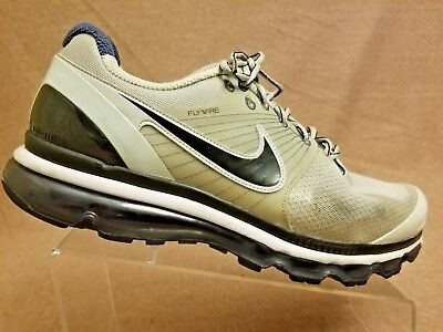 low priced f9e0f a4e69 RARE Nike 386368-015 Air Max 2010 Flywire Men Gray Sport Athletic Shoes Size  12