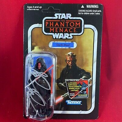 STAR WARS DARTH MAUL Vintage Collection Figure Autographed by Ray Park SWC 2019