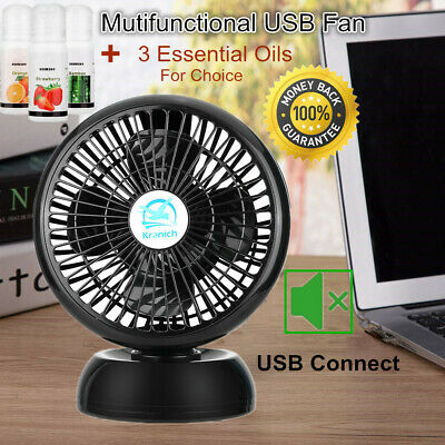 """8"""" Portable Mini USB Desk Fan 2 in 1 Cooling Silent Rechargeable Air Humidifier"""
