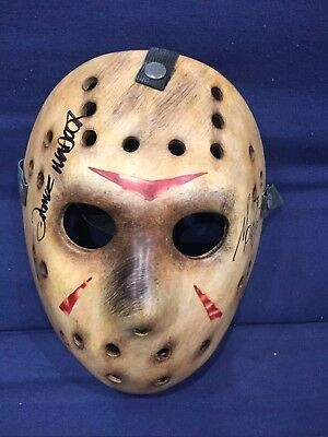 NECA Friday the 13th Jason Mask Prop Replica- Rare Twizted Autographed